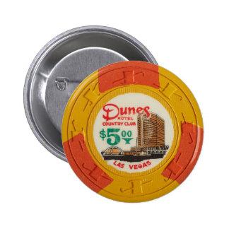 時代遅れラスベガスのポーカー用のチップのカジノの賭けること 5.7CM 丸型バッジ