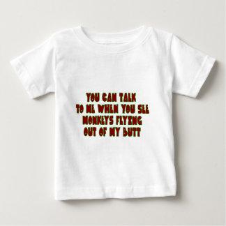 ….時私に話すことができます ベビーTシャツ