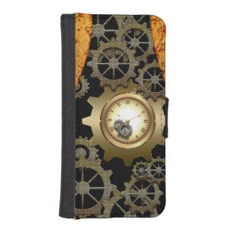 時計およびギアとの素晴らしいsteampunkのデザイン iPhoneSE/5/5sウォレットケース