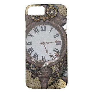 時計およびギアとのSteampunk、 iPhone 8/7ケース