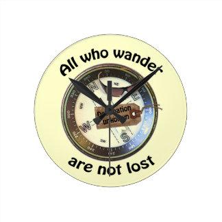 時計さまようすべて ラウンド壁時計