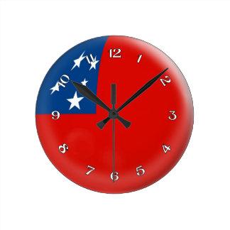 時計のサモアの旗のSamoan泡デザイン ラウンド壁時計