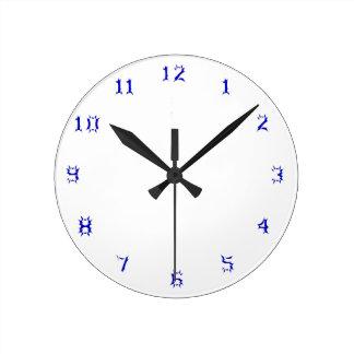 時計のテンプレート0082 ラウンド壁時計