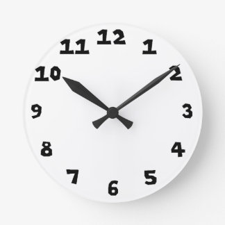 時計のテンプレート0108 ラウンド壁時計