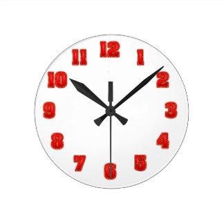 時計のテンプレート0126 ラウンド壁時計