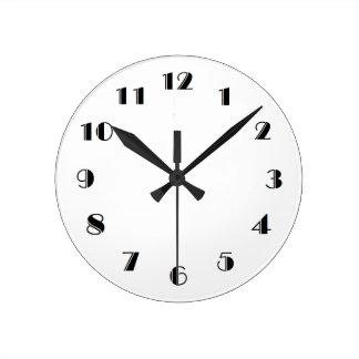 時計のテンプレート ラウンド壁時計