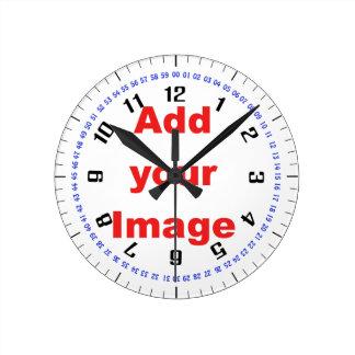 時計のテンプレート-複合体-あなたのイメージを加えて下さい ラウンド壁時計