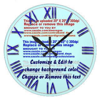 時計の壁軽い背景のためのすべてのサイズ ラージ壁時計