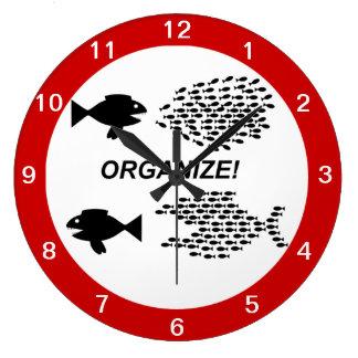 時計を組織して下さい ラージ壁時計