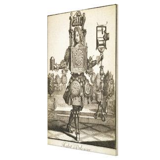 時計メーカーのための衣裳、パブ。 Gerard Valck (1著 キャンバスプリント