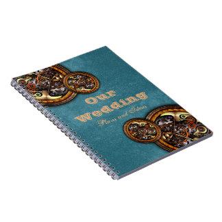 時計仕掛けおよび革のノート ノートブック
