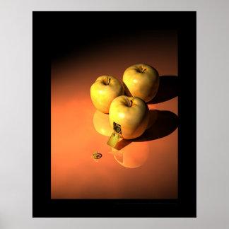 時計仕掛けのりんご-金mécanique ポスター