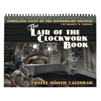 時計仕掛けの本のカレンダーの隠れ家 カレンダー