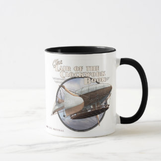時計仕掛けの本#7のマグ(飛行船) マグカップ