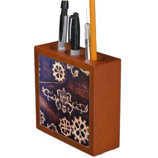 時計仕掛けのVictorianaの机のオルガナイザー ペンスタンド
