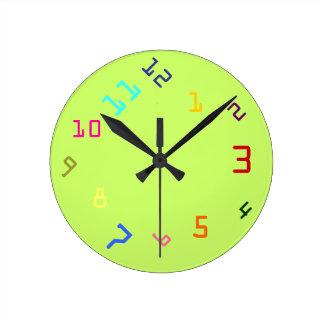 時計仕掛け色 ラウンド壁時計