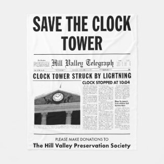 時計台を救って下さい フリースブランケット