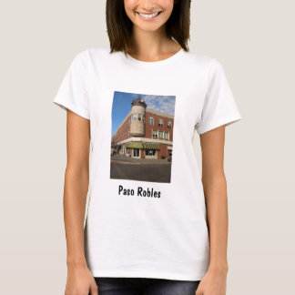 時計台、都心のPaso Robles、カリフォルニア Tシャツ
