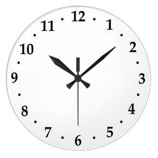 時計数顔のテンプレートの使用あなたのデザイン ラージ壁時計