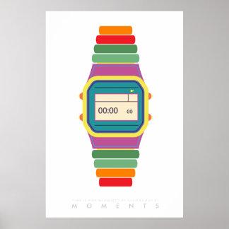 時計腕時計|のレトロのポップアートポスター70s 80s |引用文 ポスター