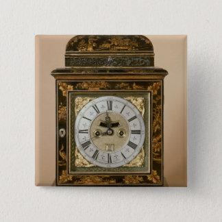 時計、ジェームスBoyce、c.1705による動きをかっこに入れて下さい 5.1cm 正方形バッジ