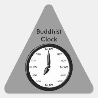 時計-仏教の時計 三角形シール