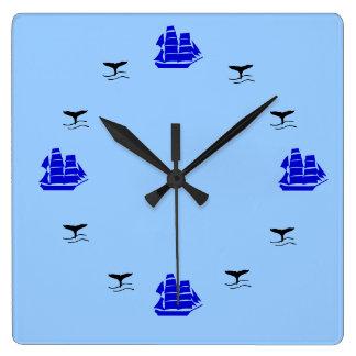 時計-航海のな時間 スクエア壁時計