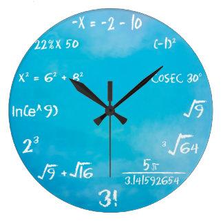 時計-青い数学の柱時計 ラージ壁時計