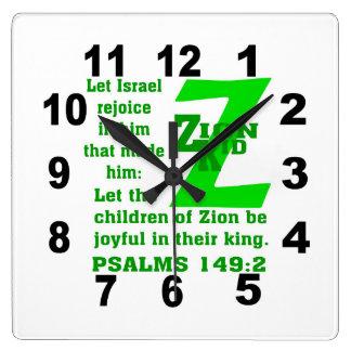 時計- Zionの子供 スクエア壁時計