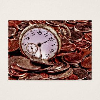 時間およびお金の名刺 名刺