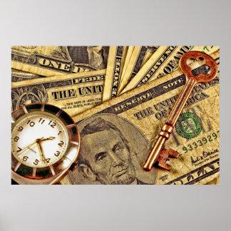 時間およびお金ポスター ポスター