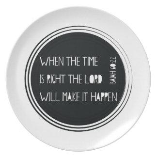 時間が右である時 プレート