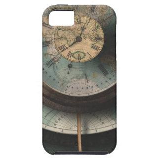 時間と空間のSteampunkの時計の世界地図 iPhone SE/5/5s ケース