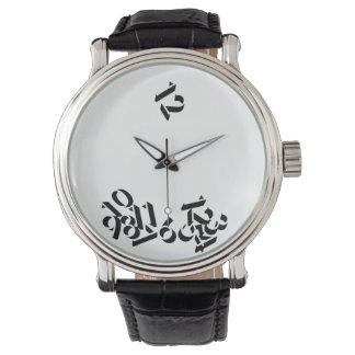 時間によってスリップまたは滑ること遠くに 腕時計