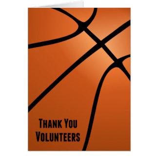 時間のギフトをバスケットボールのボランティアありがとう カード