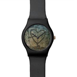 時間のハート 腕時計