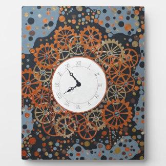 時間の作成。 アクリルの絵画、産業steamp フォトプラーク