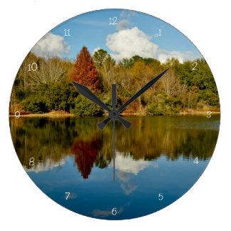 時間の反射 ラージ壁時計