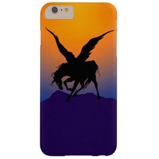 """""""時間の夜明けに黒いペガソス""""の電話箱 BARELY THERE iPhone 6 PLUS ケース"""