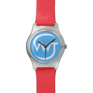 時間の旅行者の腕時計(赤い) 腕時計