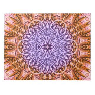 時間の曼荼羅の花 ノートパッド