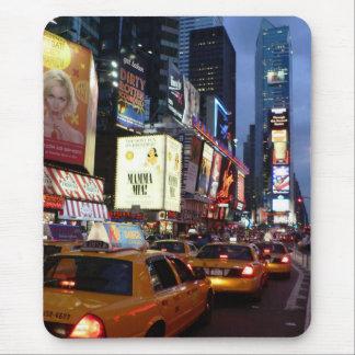 時間の正方形のタクシー マウスパッド
