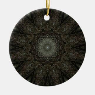 時間の正方形の時計の曼荼羅 セラミックオーナメント