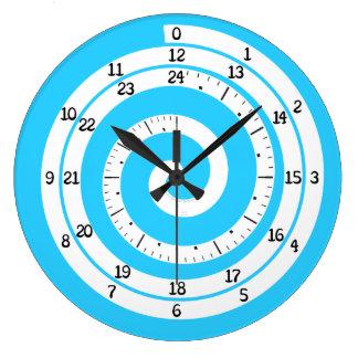時間の渦の時計(さわやかな青) ラージ壁時計