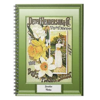 時間の種、庭のノート、ラッパスイセン ノートブック