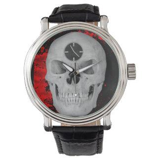 時間の腕時計のスカル 腕時計