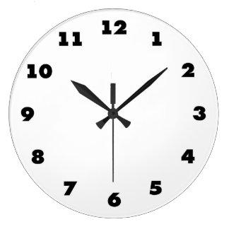 時間の表示との時計のテンプレート-背景を加えて下さい ラージ壁時計