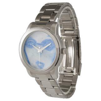 時間の顔科学者、チョークのスケッチの腕時計 腕時計