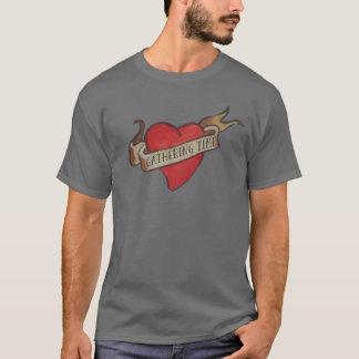 時間の「記念品」のハートのティーを集めること Tシャツ