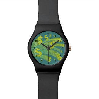 時間はお金のドルの記号です 腕時計